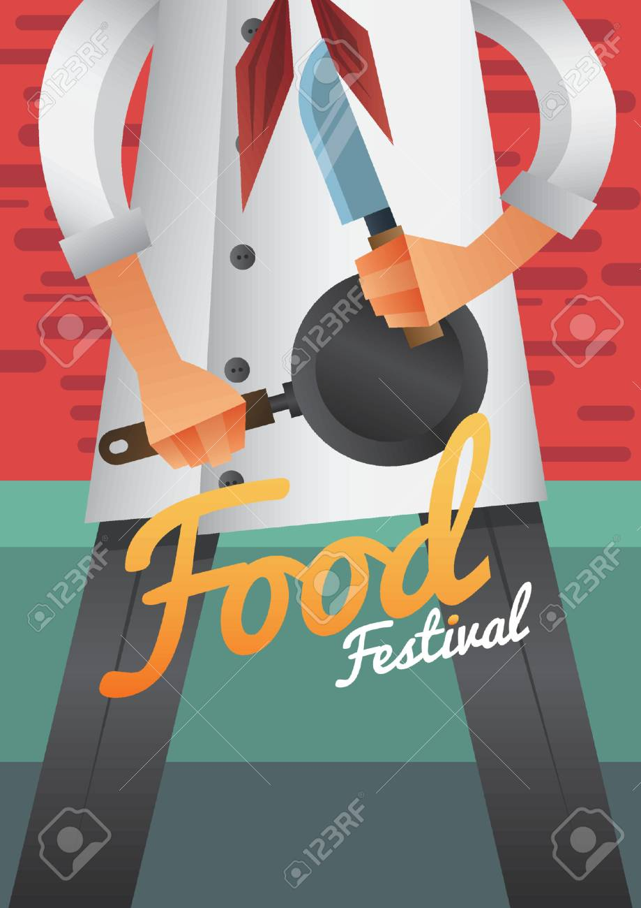 Food Festival Poster Design Stock Vector