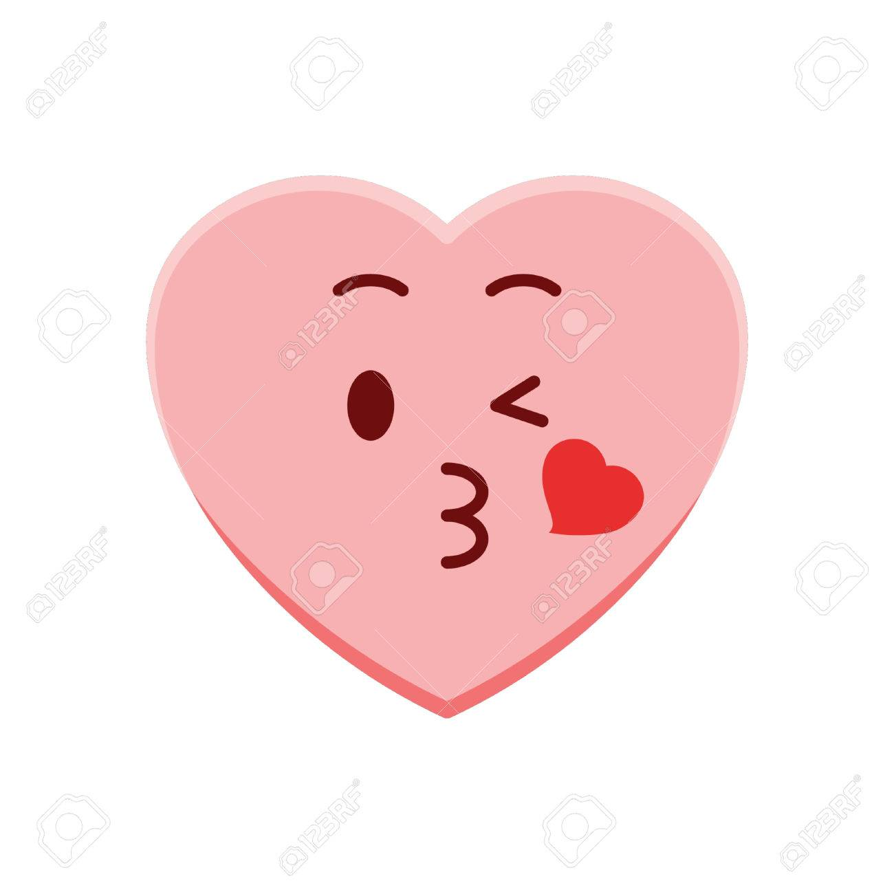 Heart Character Blowing A Kiss Royalty Free Cliparts Vectors And