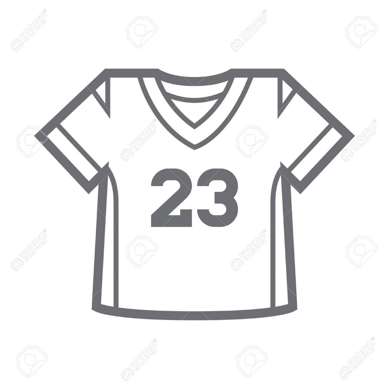 a85b0d471 american football jersey Stock Vector - 74509953