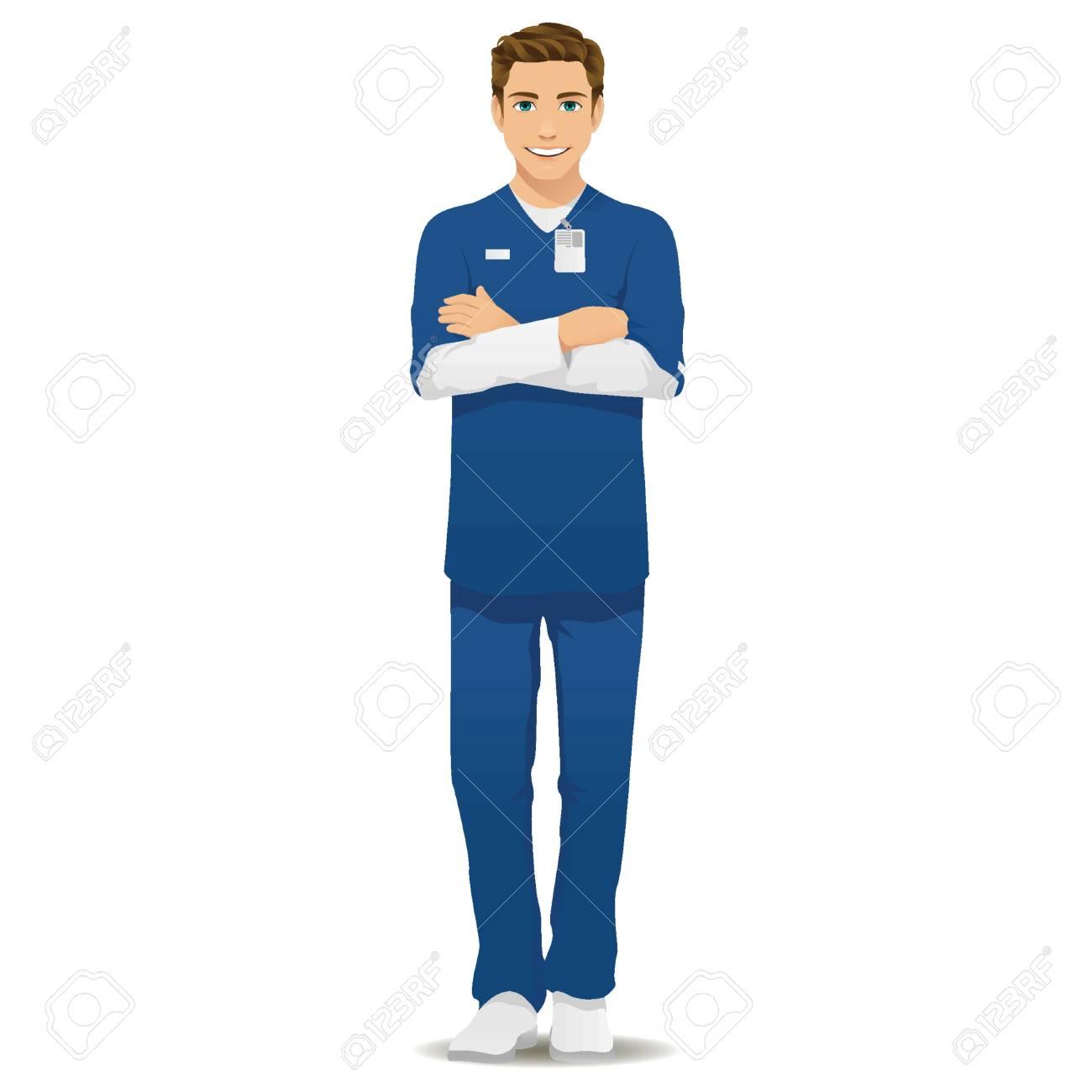male nurse royalty free cliparts vectors and stock illustration rh 123rf com Male and Female Nurse Clip Art male nurse clipart free
