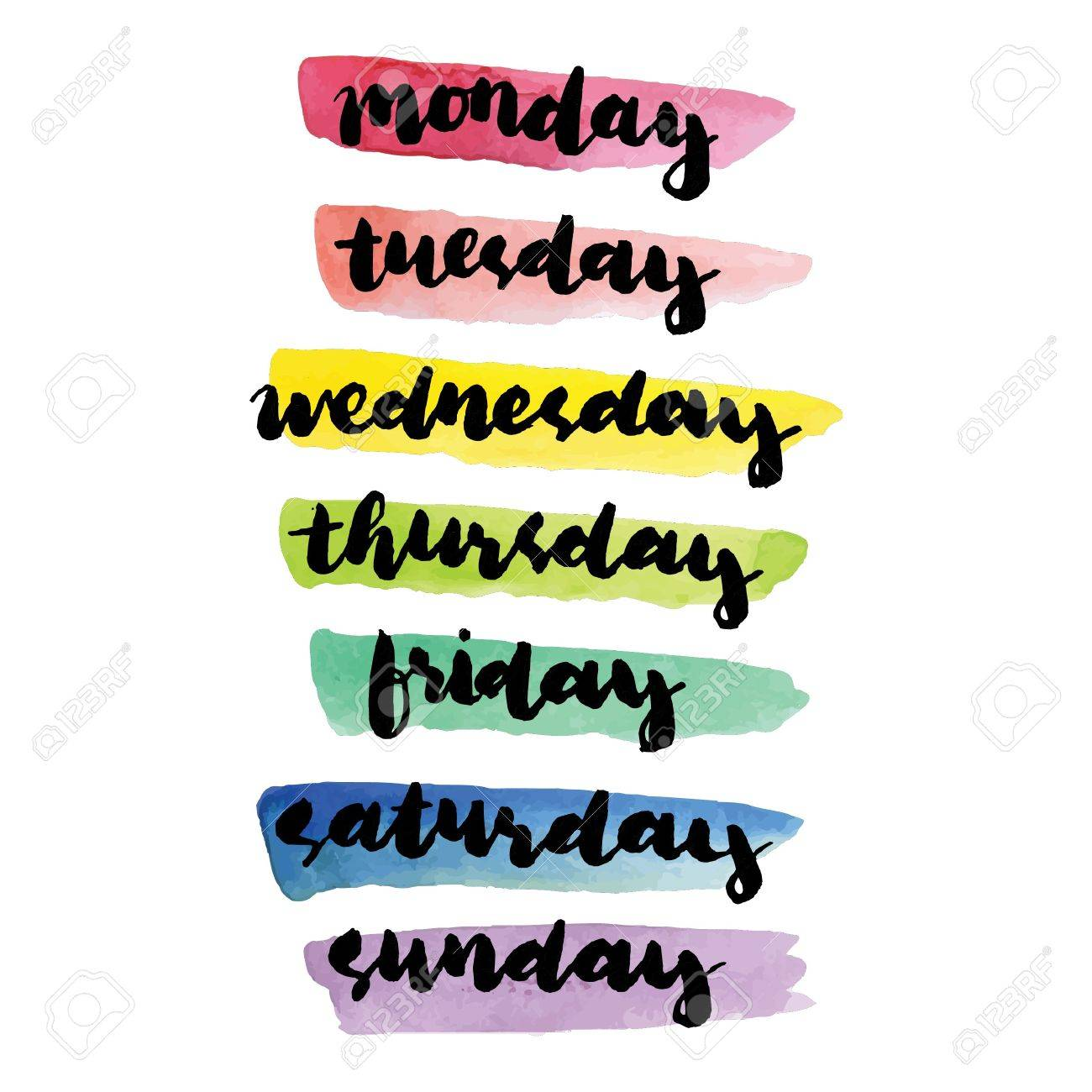 days of the week text ilustraciones vectoriales clip art rh es 123rf com days of the week clipart free days of the week calendar clipart