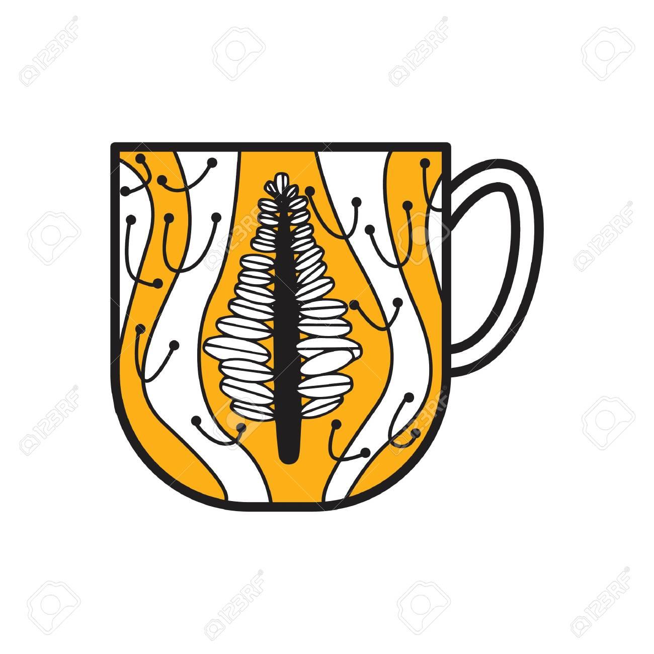 Vettoriale Disegno Tazza Da Tè Image 76960794