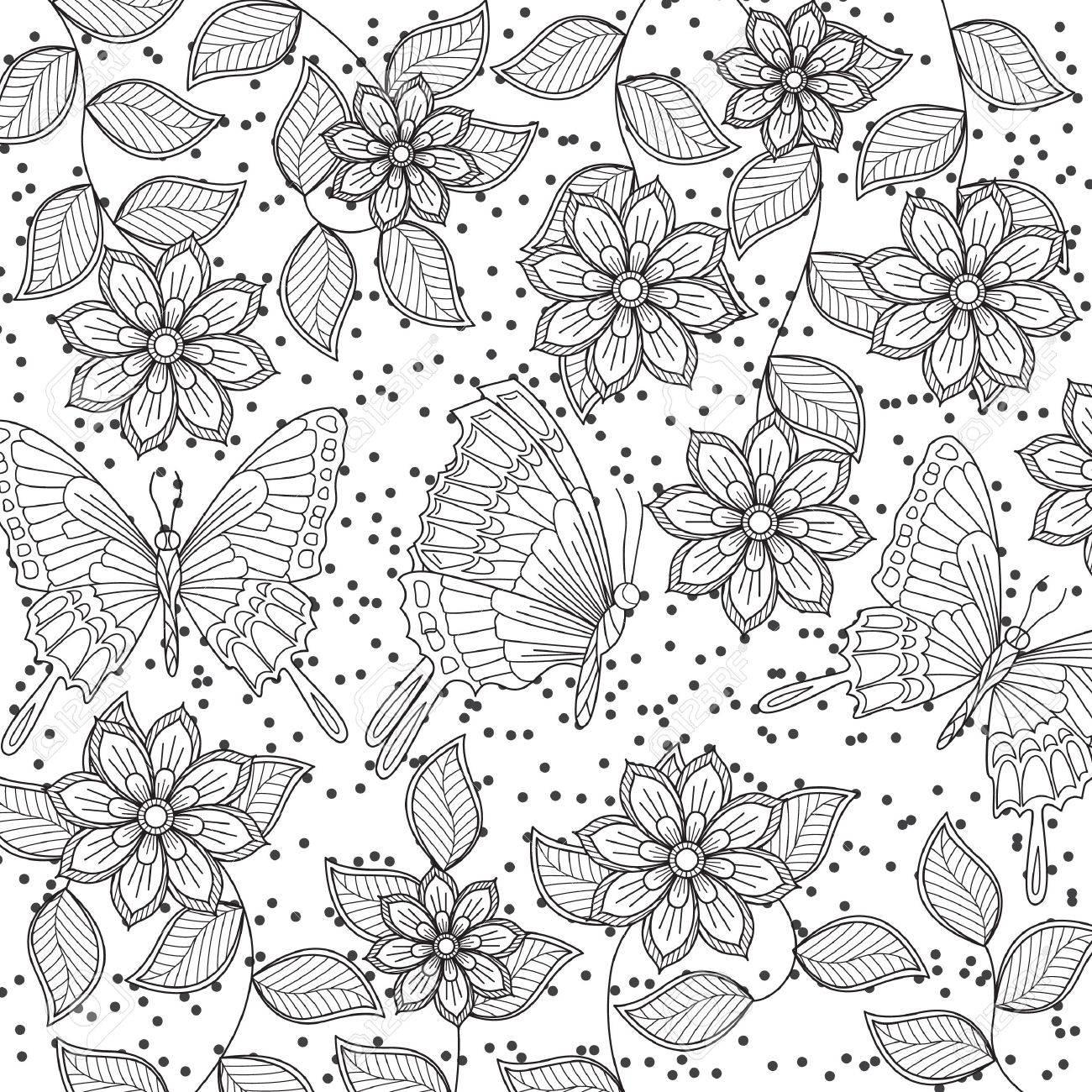 Famoso Intrincada Flor Para Colorear Patrón - Ideas Para Colorear ...