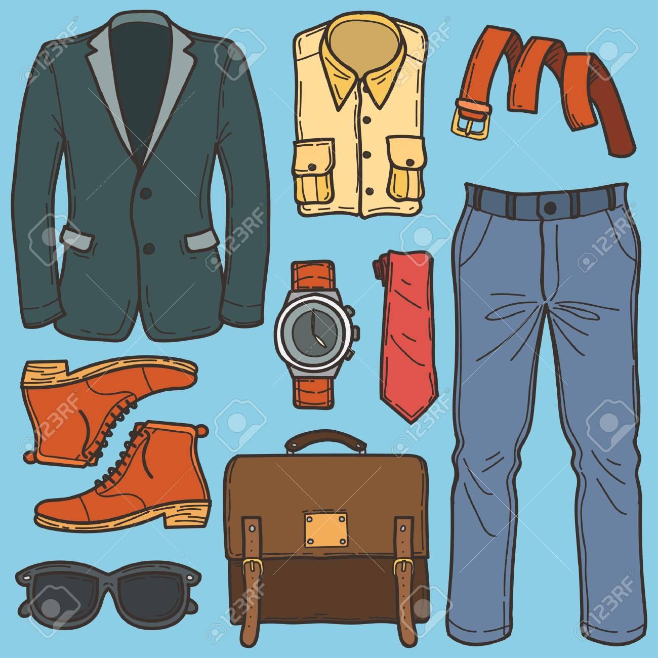 2debfa22be2 men fashion set Stock Vector - 77327418