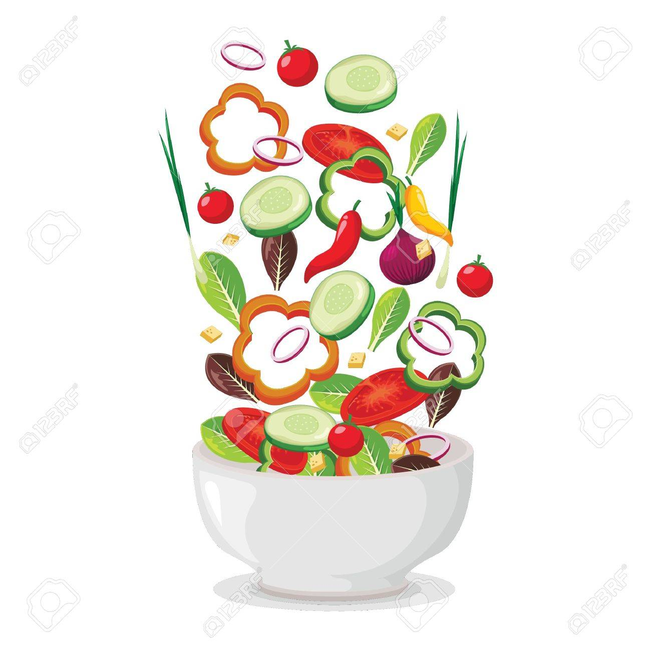 Tossed Salad Royalty Free Cliparts Vectors And Stock Illustration Image 77255164