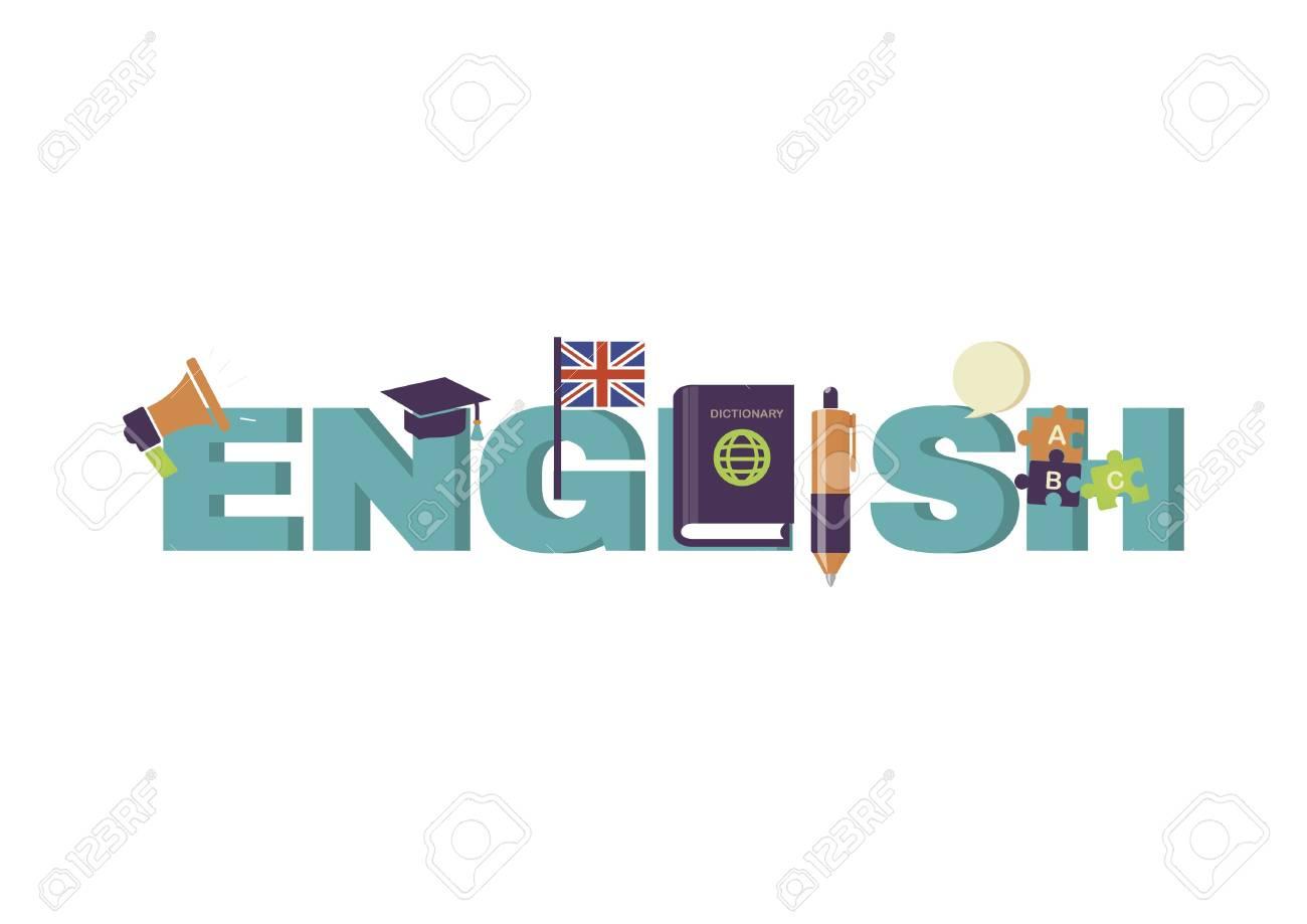 Diseño De Letras En Inglés Ilustraciones Vectoriales, Clip Art ...