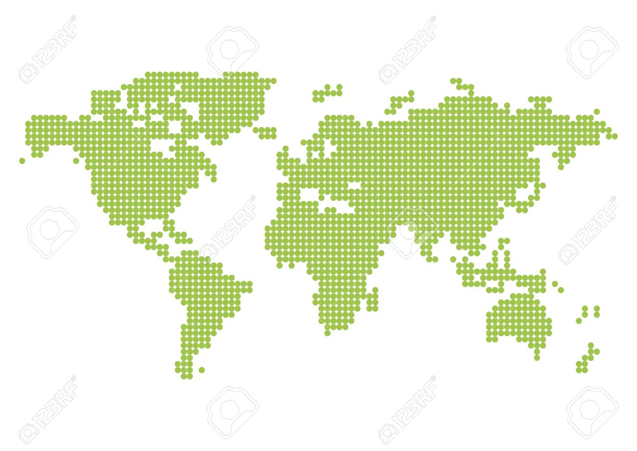 Pixelated World Map Royalty Free Cliparts, Vectors, And Stock ...