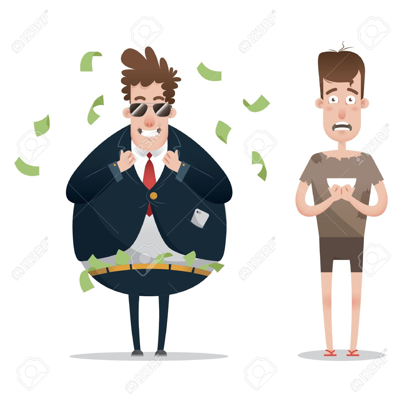 rich and poor man concept royalty free cliparts vectors and stock