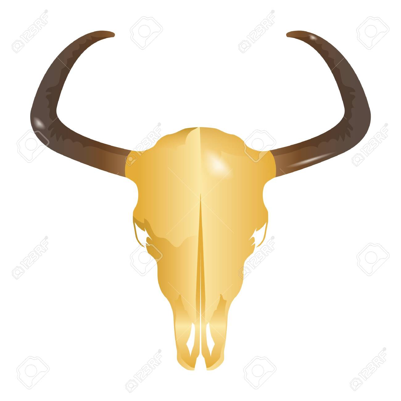 Mexican Bull Head Decoration Royalty Free Cliparts, Vectors, And ...