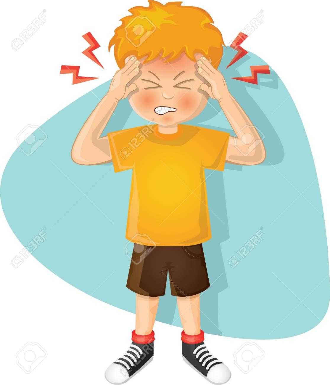 boy with a headache - 106675225