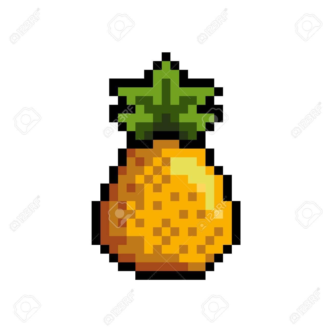 Pixel Art Pineapple