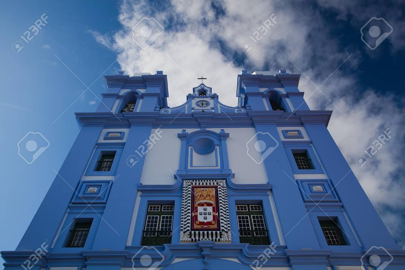The typical church on Sao Miguel on Azores Stock Photo - 12196388