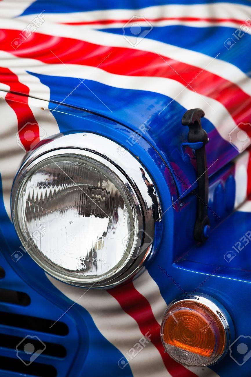 Detail Of Classic Car Mini Cooper From Mini Run Show Stock Photo