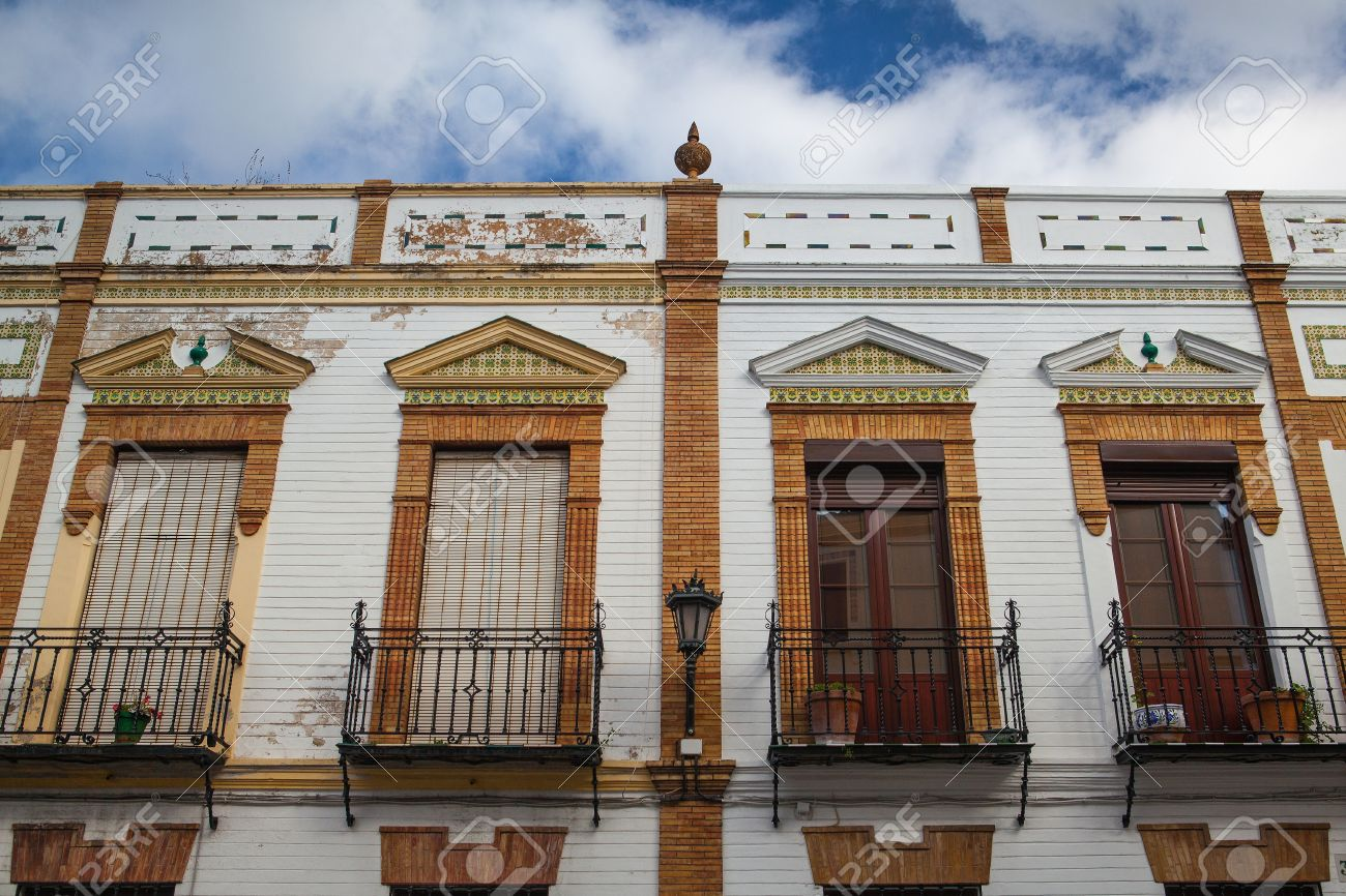 Old Style Balcony In Ronda Spain Traditional Spanish Architecture Stock Photo