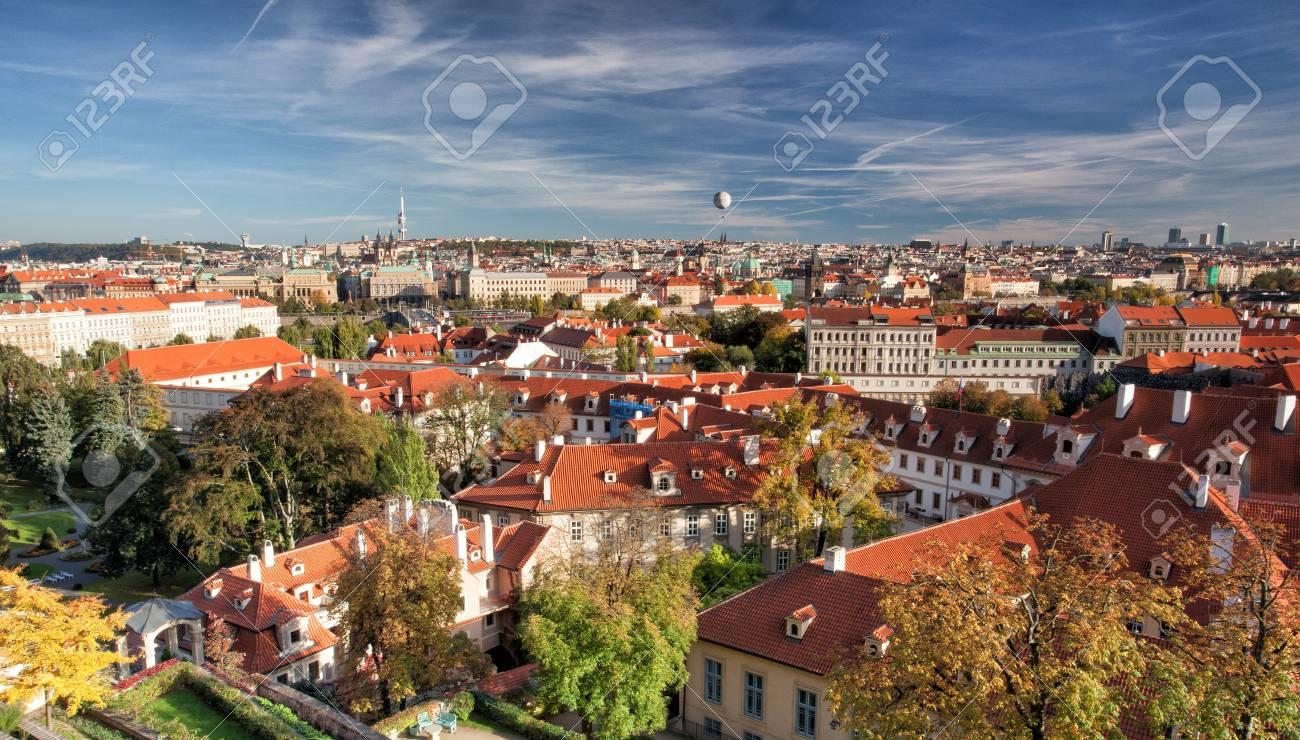 View from Prague Castle on the autumn Prague Stock Photo - 20400415
