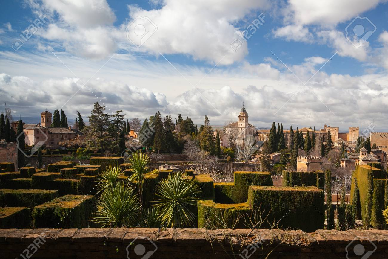 Gardens Of La Alhambra In Granada, Spain Stock Photo, Picture And ...