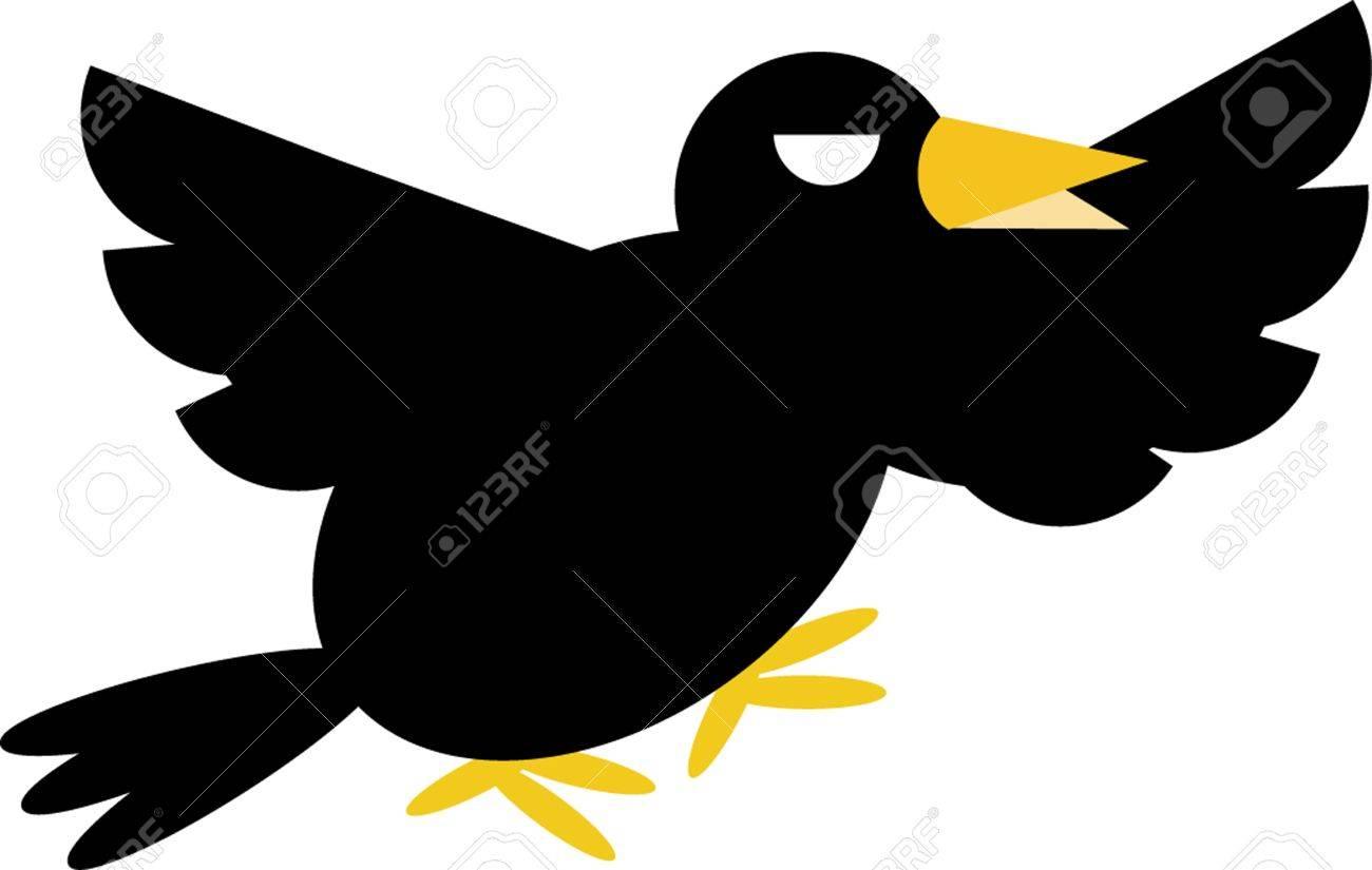 Angry crow Stock Vector - 17127888