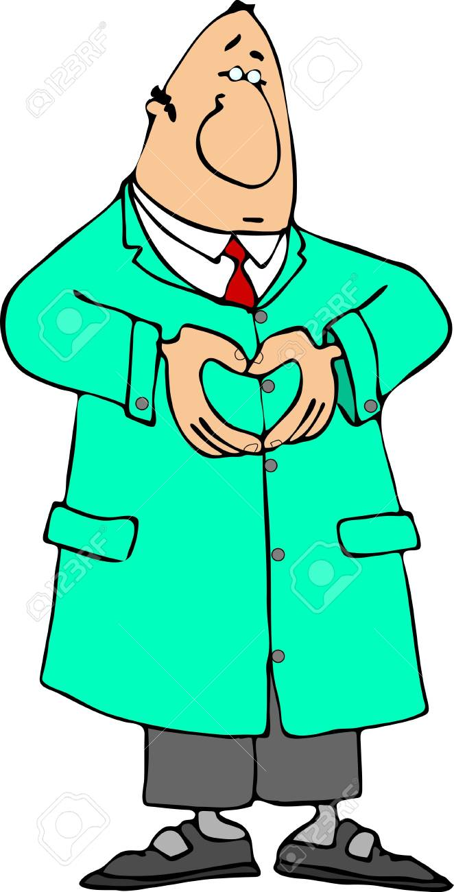 Doctor making a heart sign with his hands Stock Photo - 381779