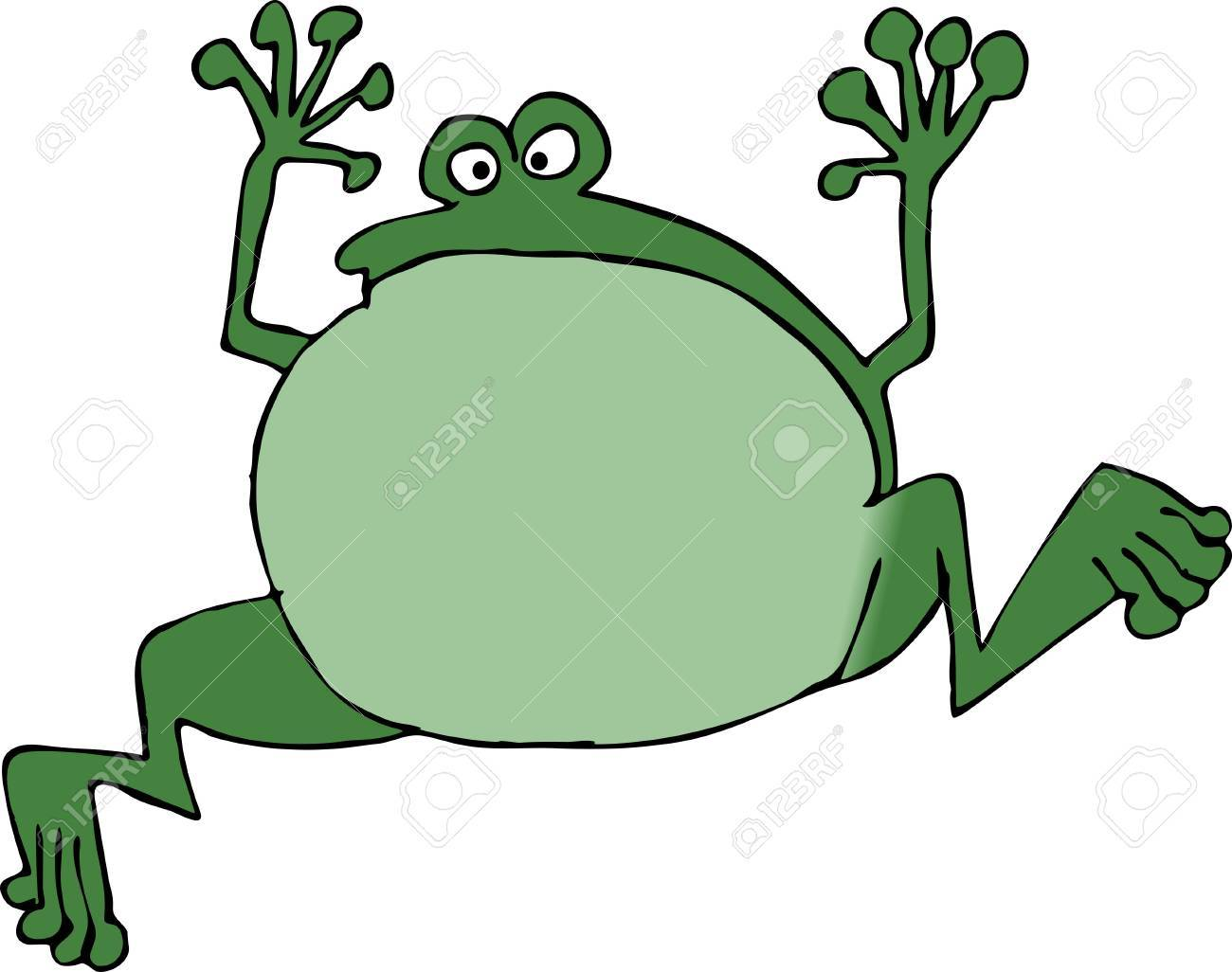 Jumping frog Stock Photo - 376140