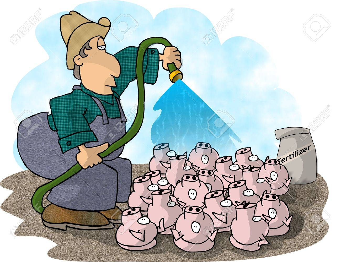 Pig farmer Stock Photo - 401423