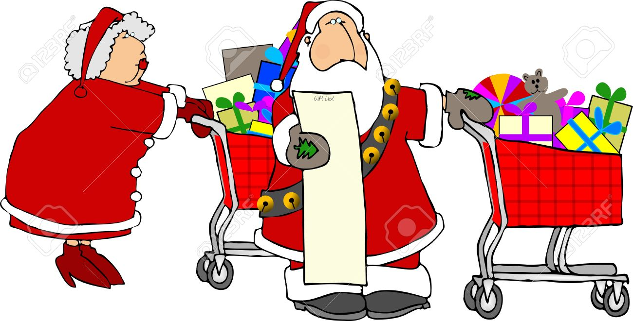 Image result for mrs. claus shopping