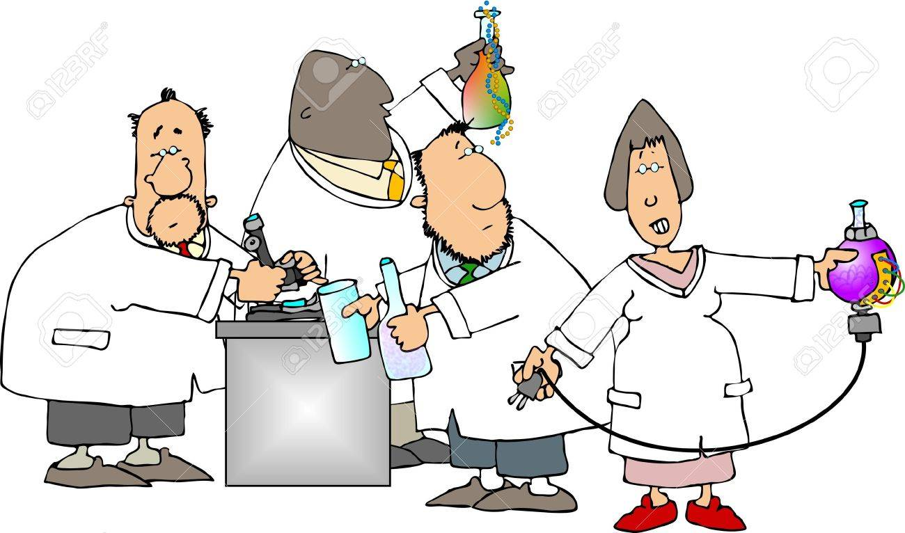 Four scientists Stock Photo - 402853