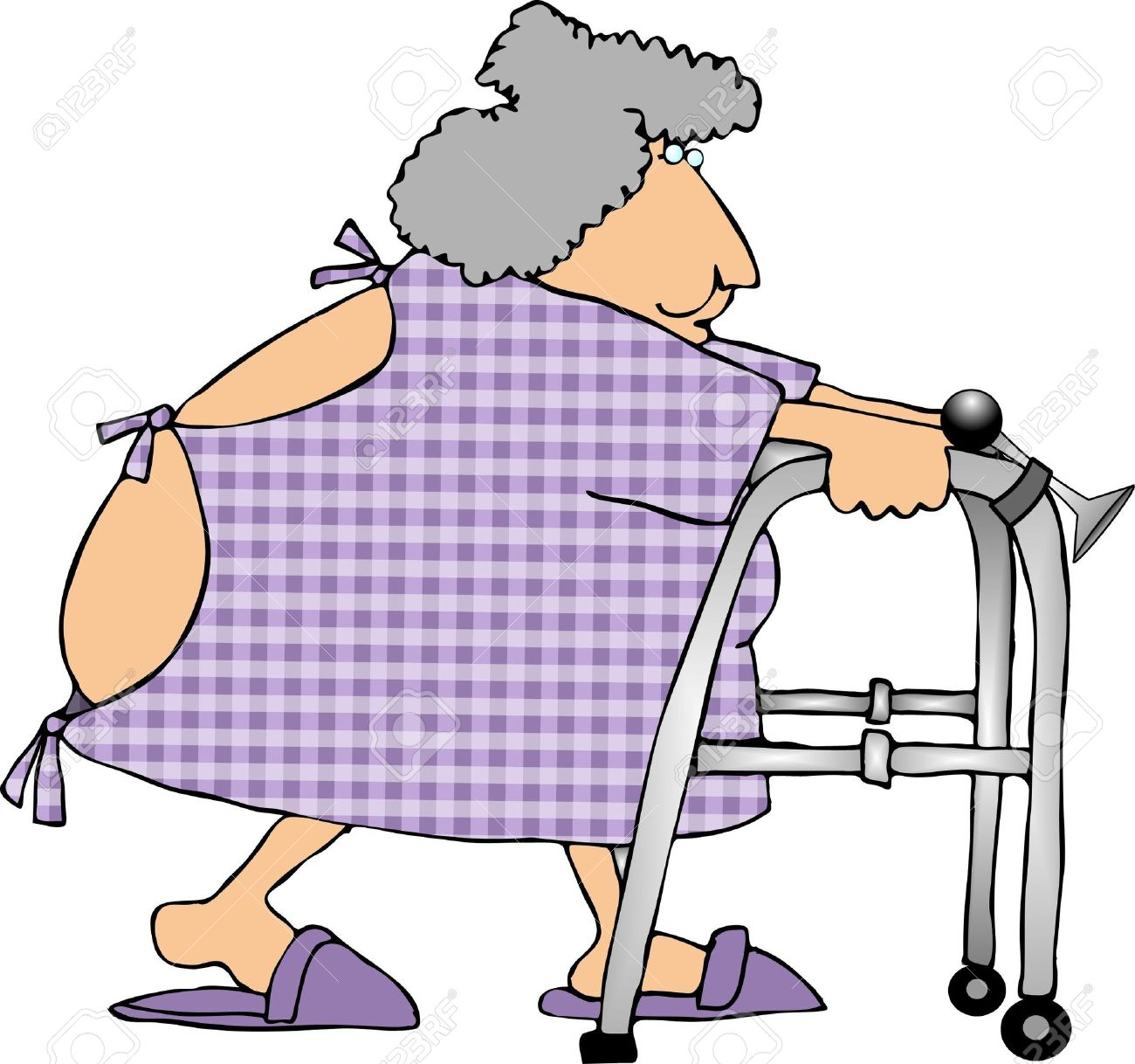 Woman Using A Walker Stock Photo, Picture And Royalty Free Image ...