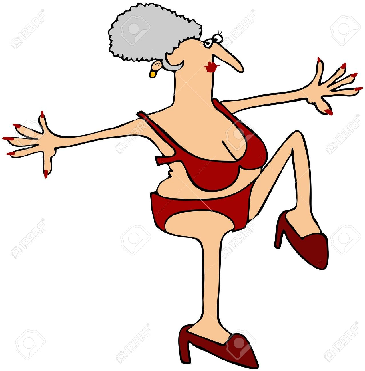 Image result for cartoon older woman