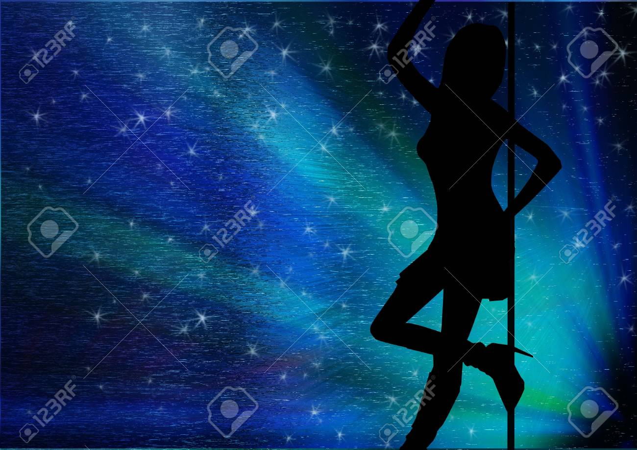 sexy slhouette of a woman, with stars Stock Photo - 572143