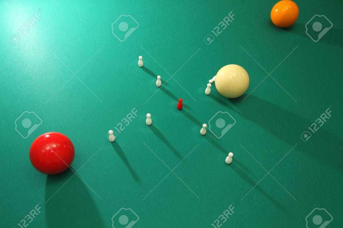 Italian Billiards Bowling Pins And Balls Stock Photo Picture And - Italian pool table