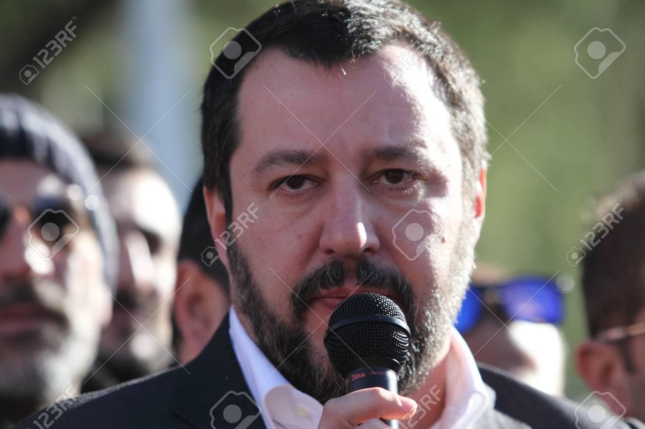Ideal Standard Roccasecca.Roccasecca Italy January 18 2018 Matteo Salvini Meets The