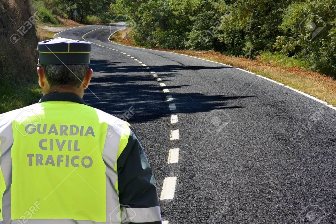 español el tráfico de la Guardia Civil Stock Photo - 10129889