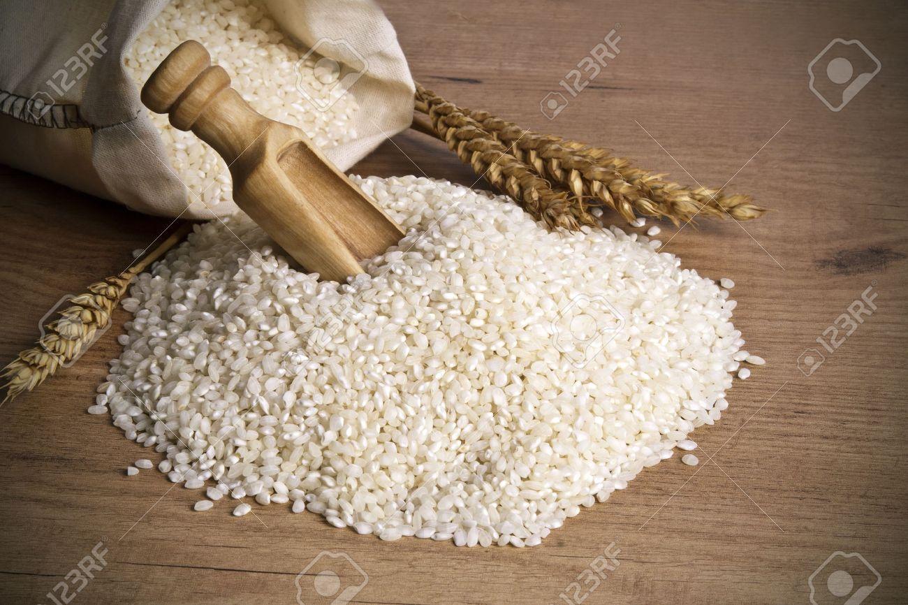white rice harvest in studio photography - 16459523