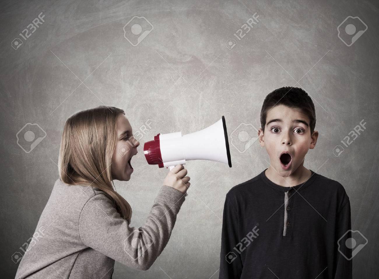 child with speaker - 36128578