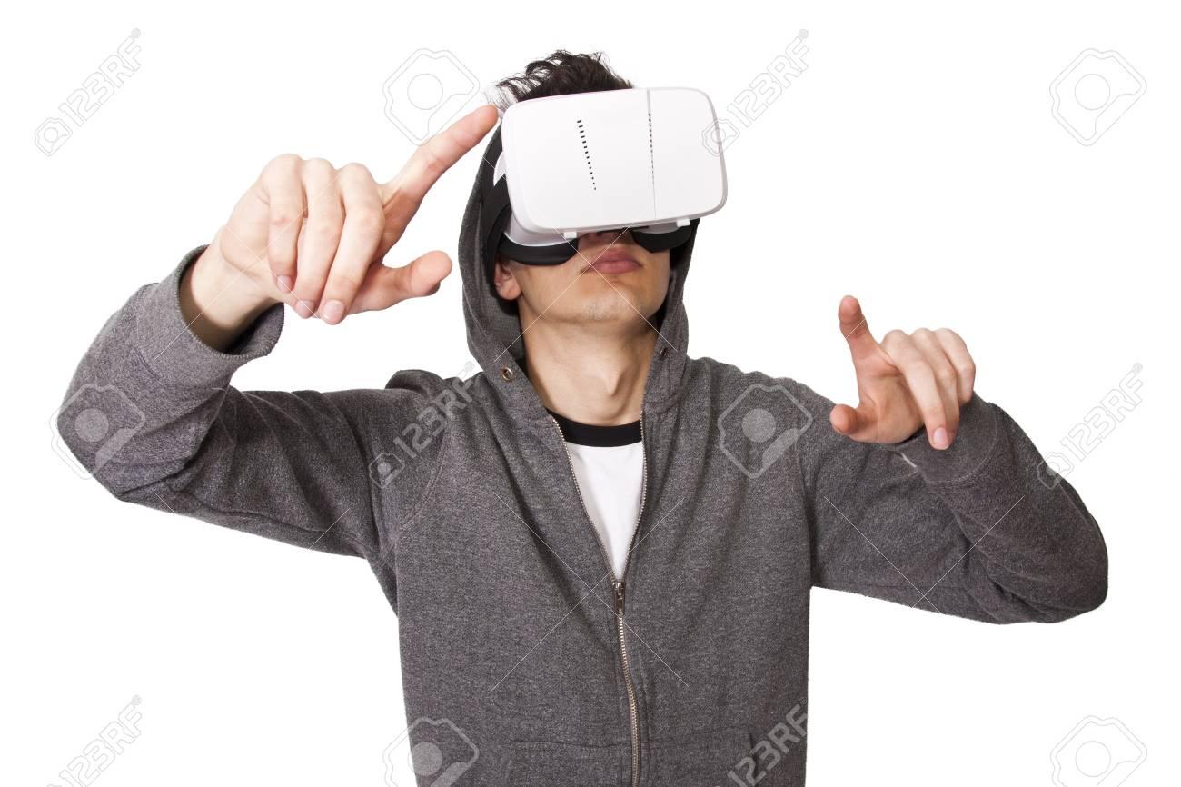 1c3b0f08dd4 virtual reality simulator Stock Photo - 57369819