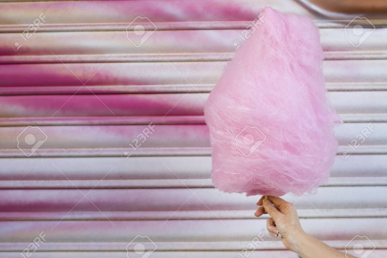 cotton candy with background of the festival - 80582744