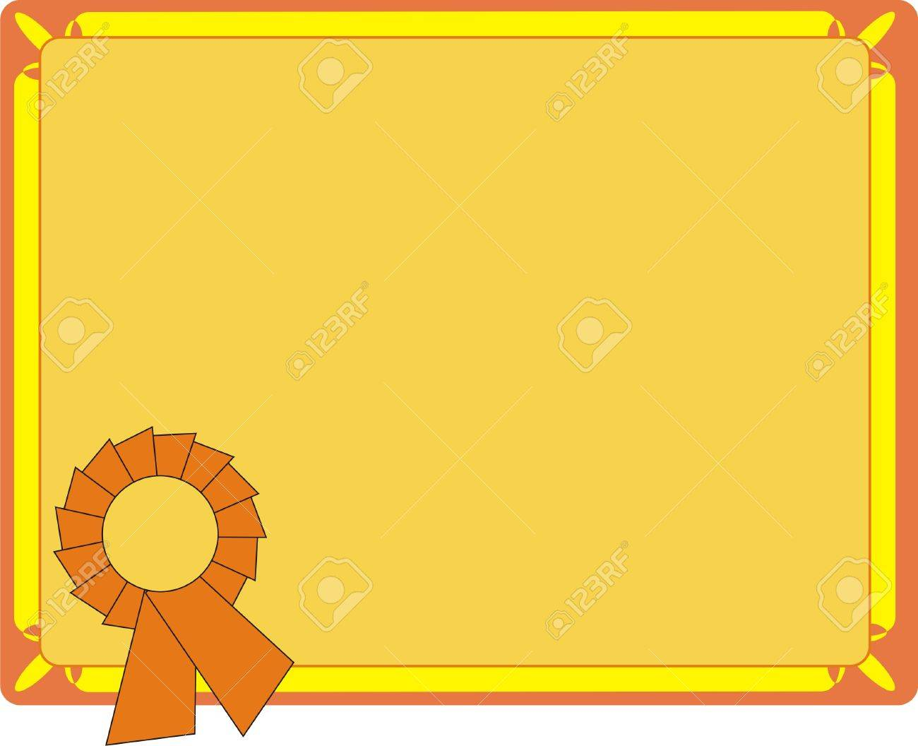 Blank Orange Certificate On Letter Format Royalty Free Cliparts – Blank Certificate Format