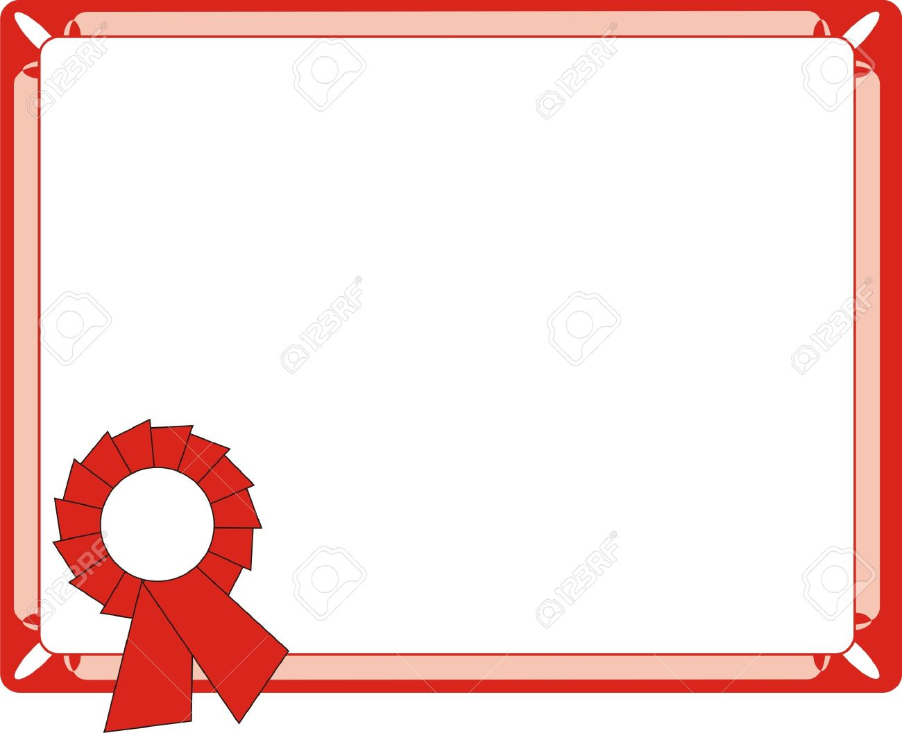 blank red certificate on letter format royalty free cliparts rh 123rf com vector certificate borders free download certificate border vector download