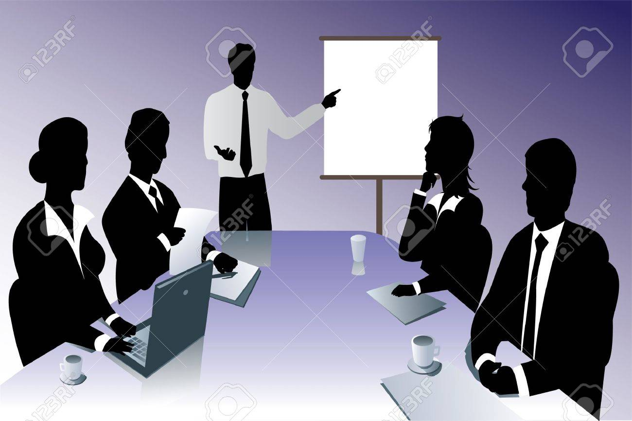 business meeting silhouette Stock Vector - 14067481