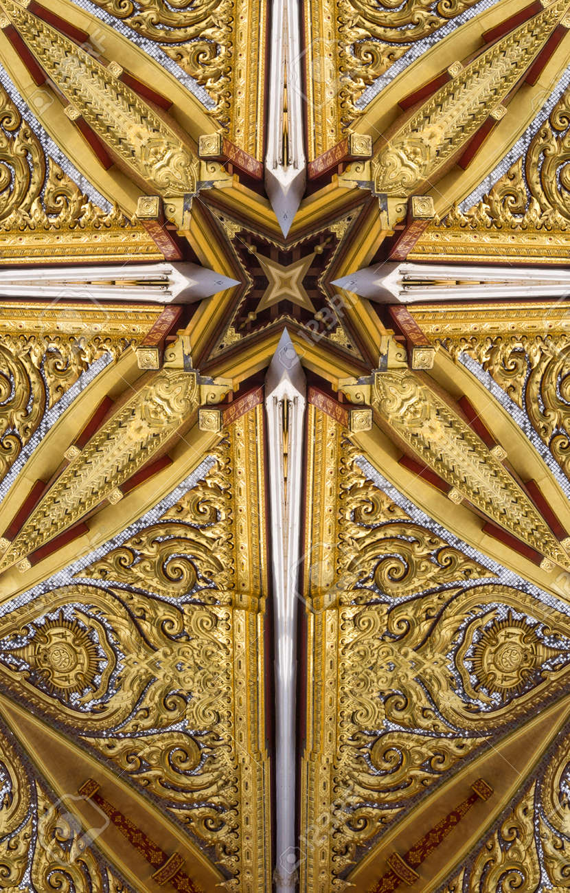 Garden Kaleidoscope At Olbrich >> Kaleidoscope Cross Gold Ceiling Detail Thai Pavilion Olbrich