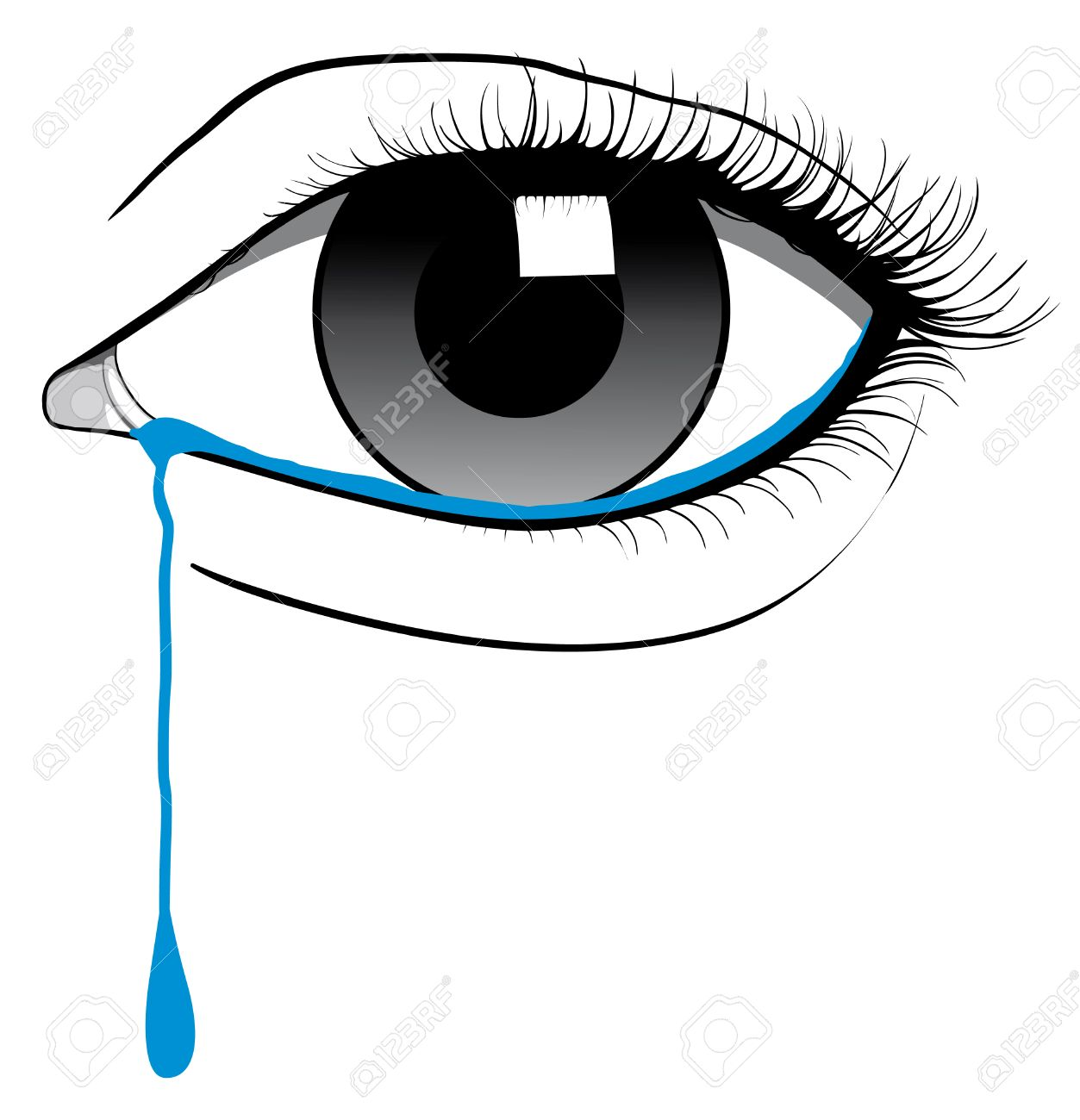 crying eye royalty free cliparts vectors and stock illustration rh 123rf com