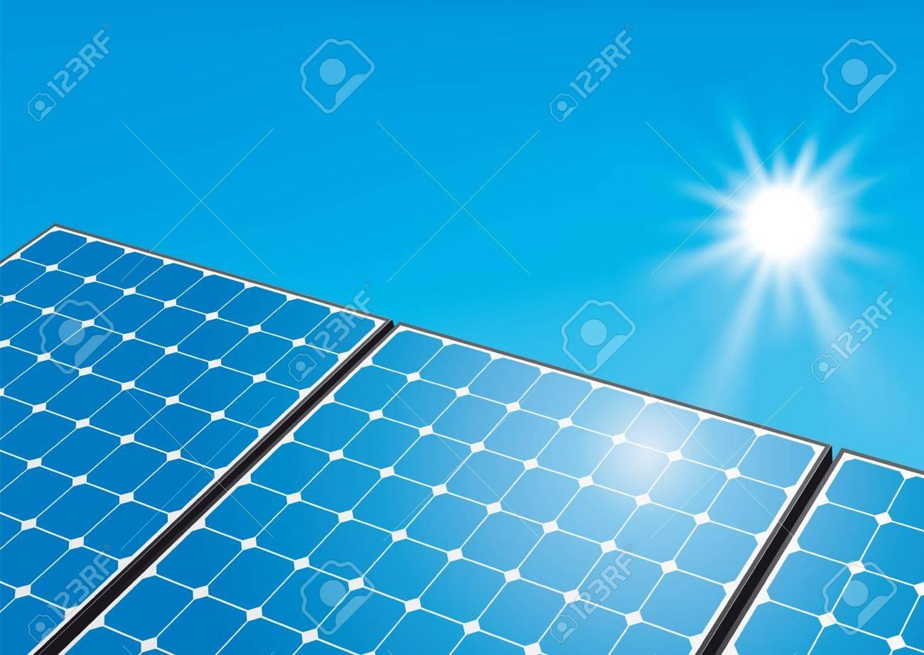 Solar panels on sunny sky Stock Photo - 10280751