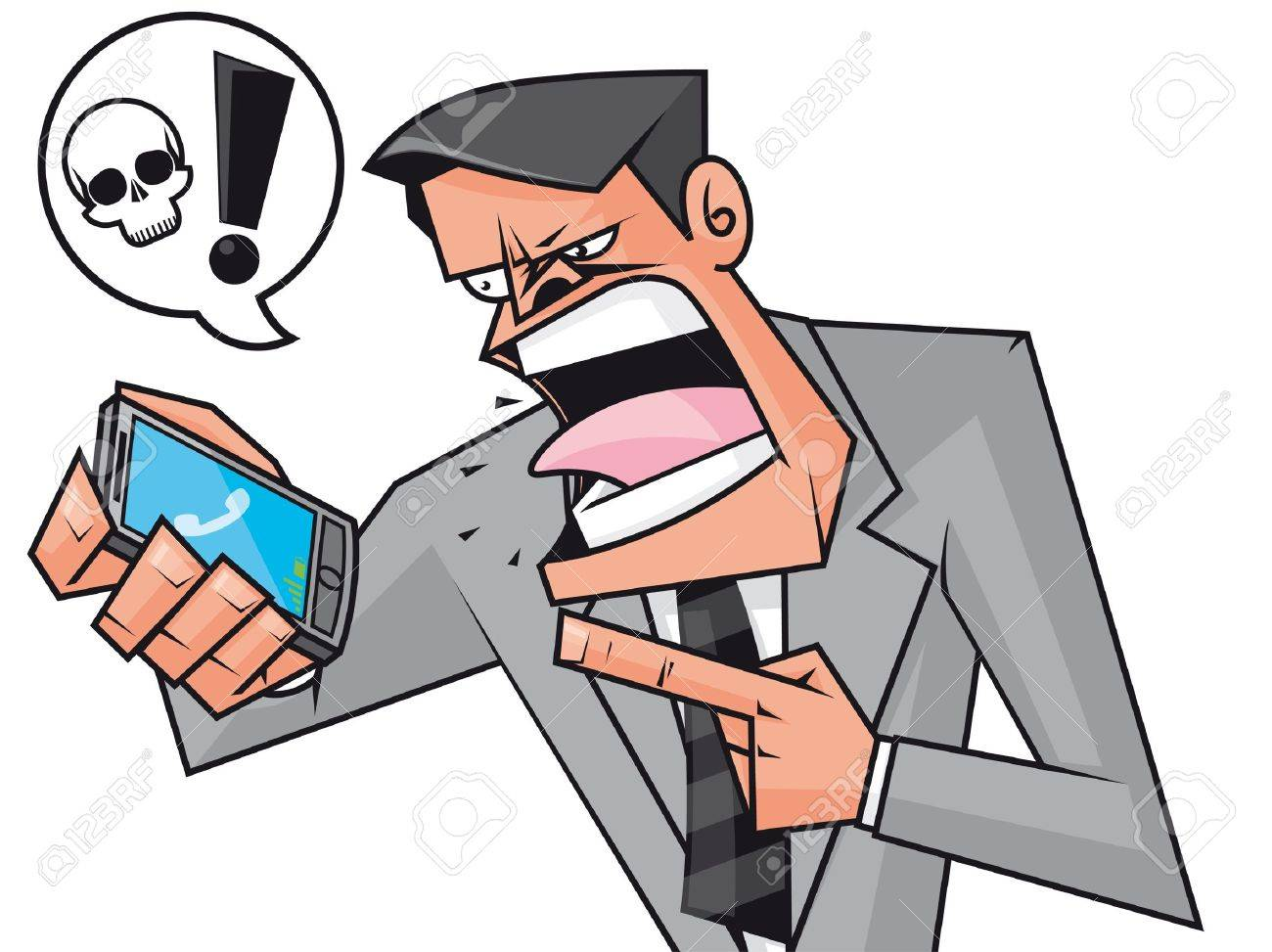 Furious businessman screaming to the phone Stock Photo - 11069607