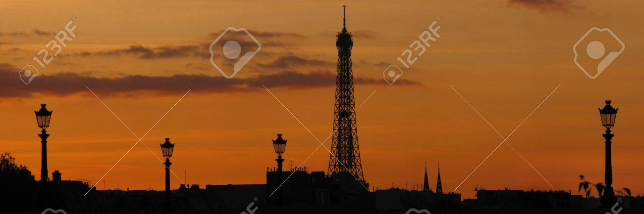 famous tour eiffel in Paris during sunset Stock Photo - 5906046