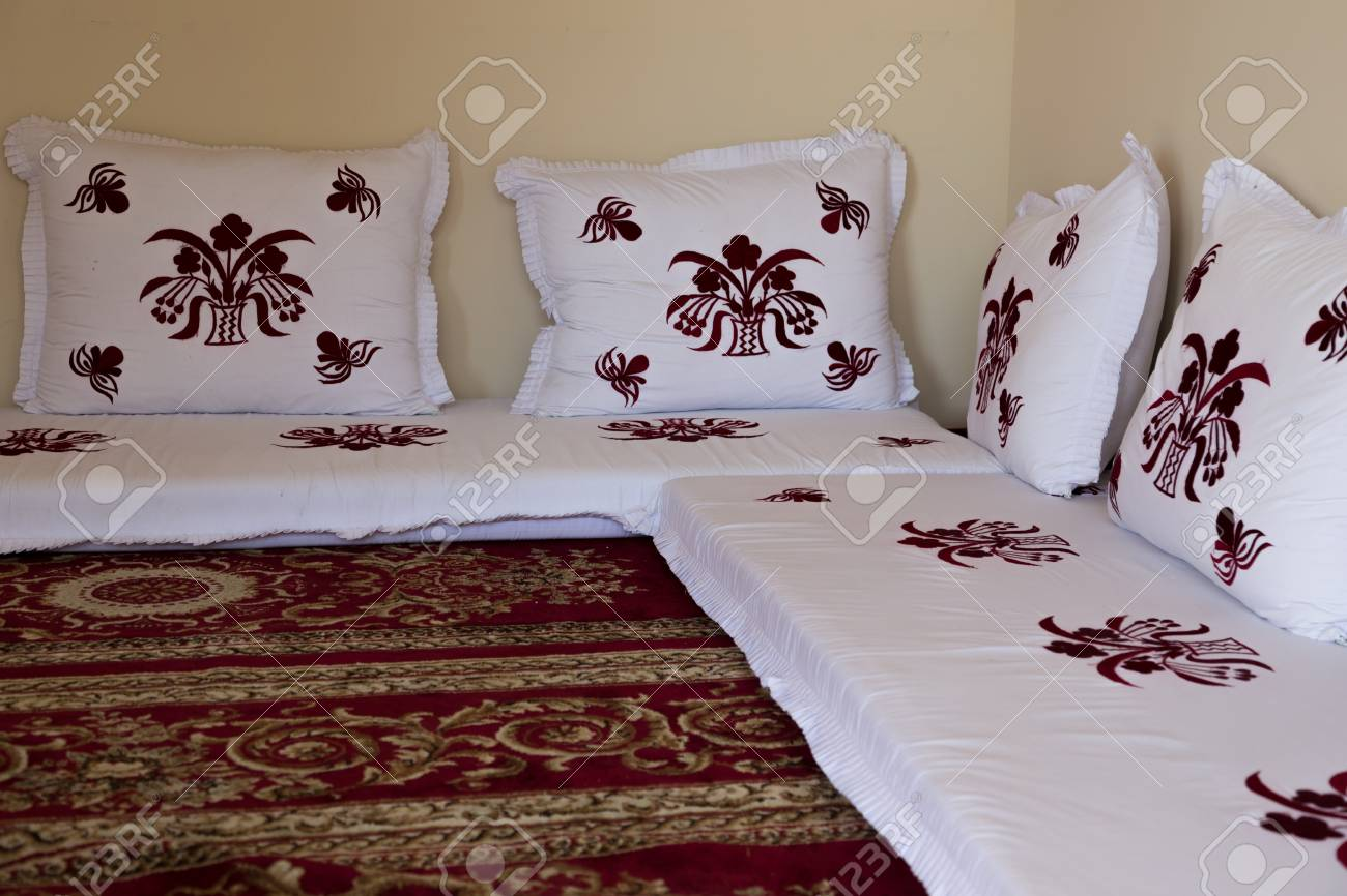 Pillows On The Floor In Arab Culture Stock Photo, Picture And ...