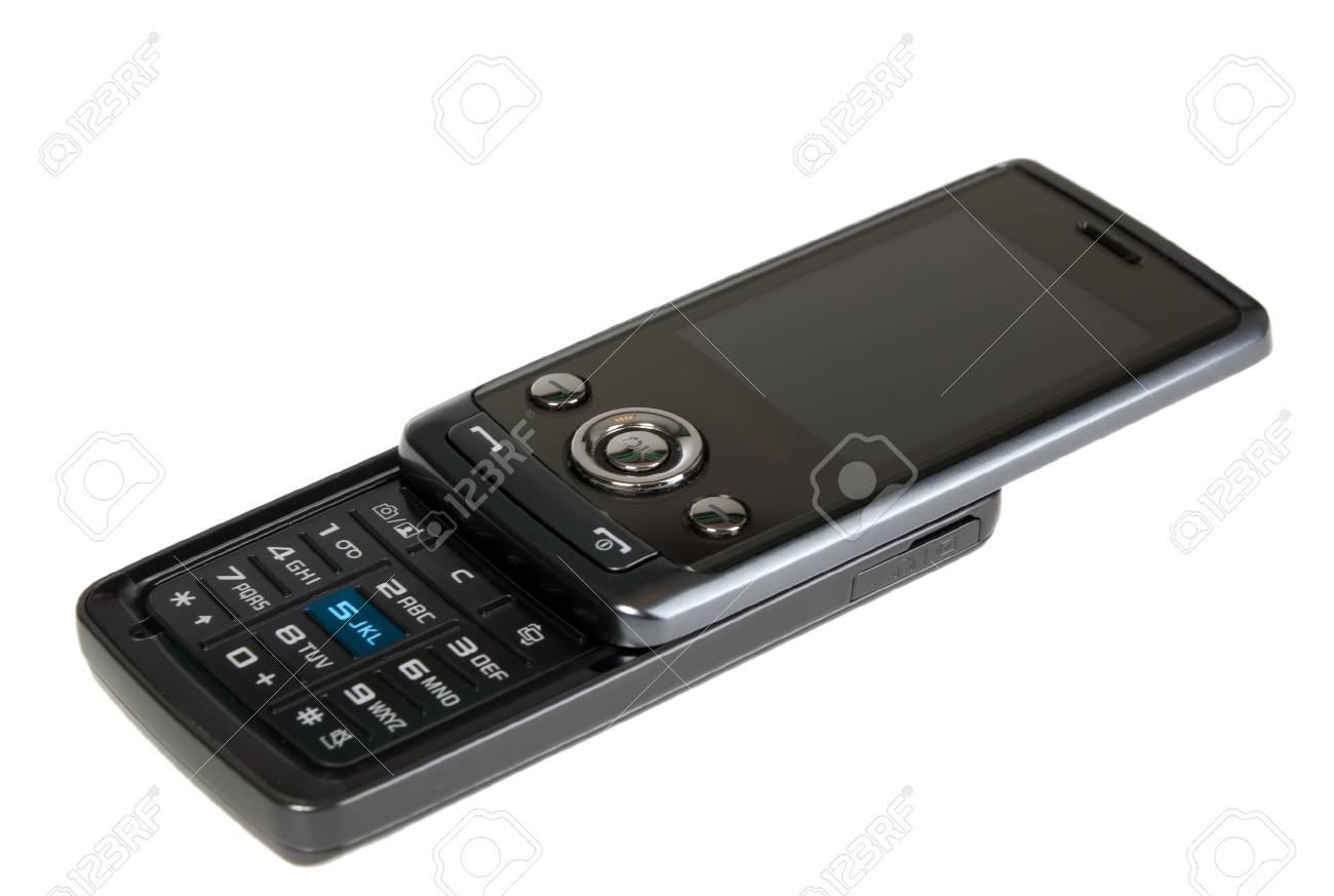 Immagini Stock Moderna Cellulare Nero Su Sfondo Bianco Image 4071289