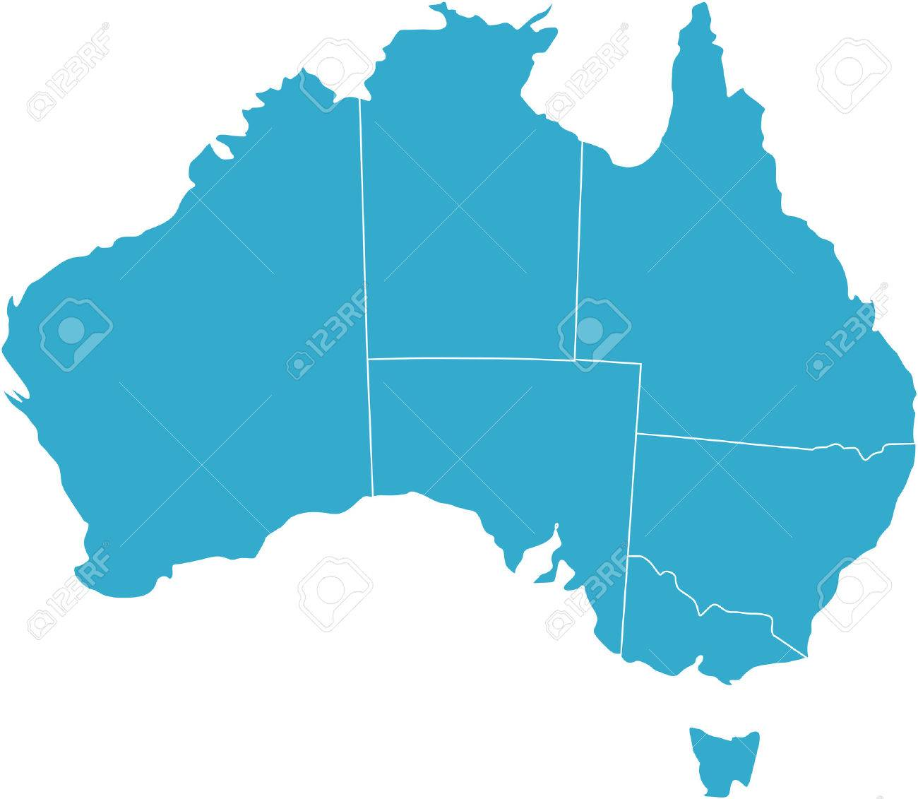 Australia Country Map.There Is A Map Of Australia Country