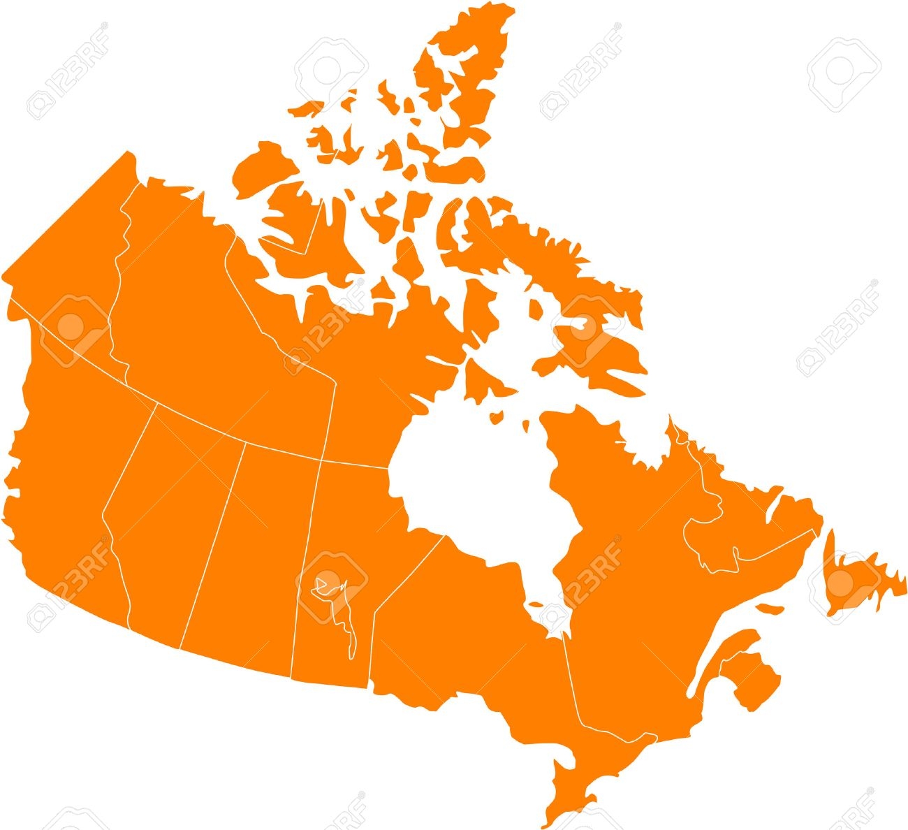 Canada Map Clipart There Is A Map Of Canada Country Royalty Free Cliparts, Vectors