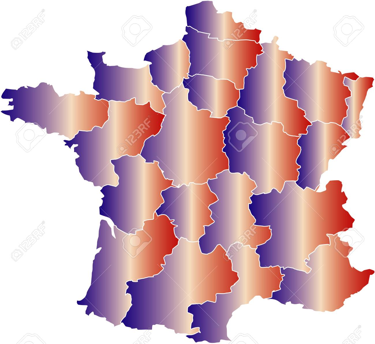 There is a map of France country Stock Vector - 4292600