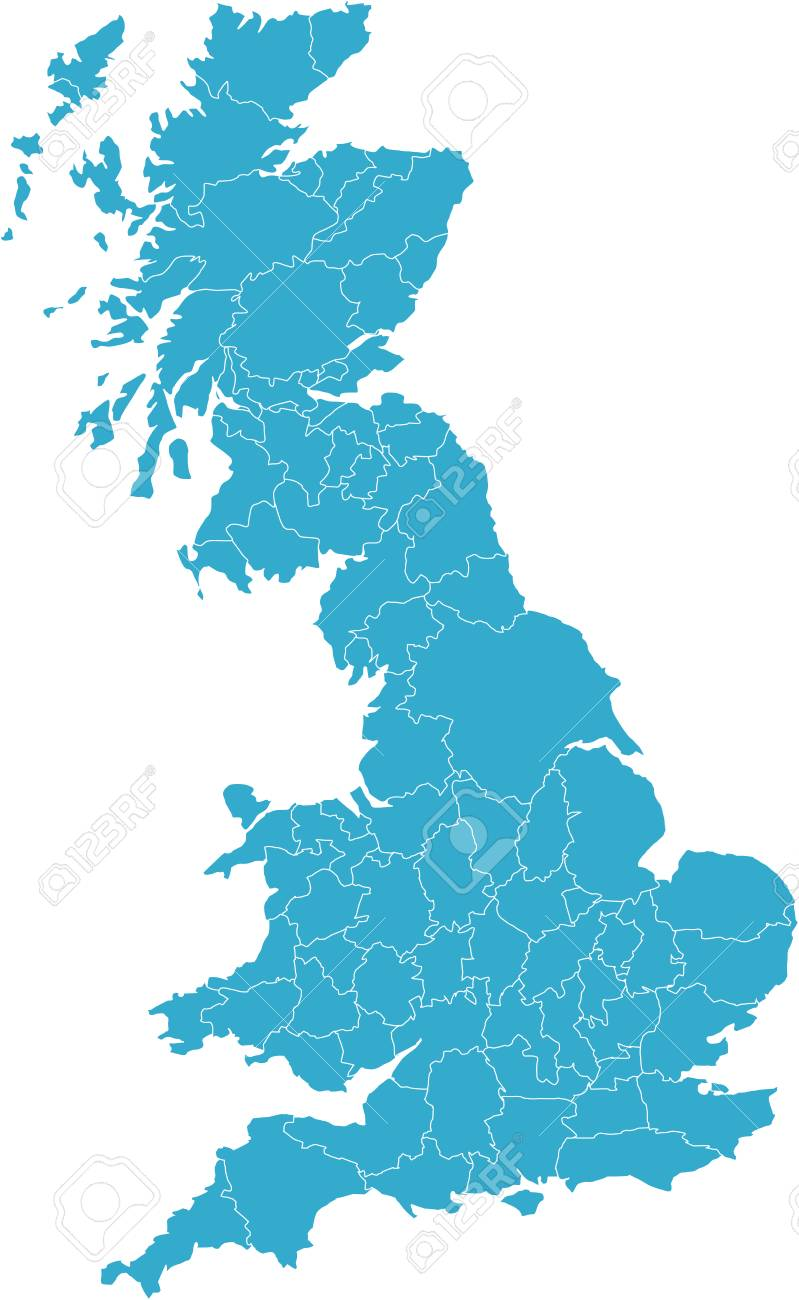 There is a map of Great Britain country Stock Vector - 4292617